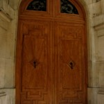 Porte faux bois