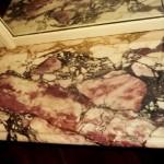 Raccord cheminée faux marbre